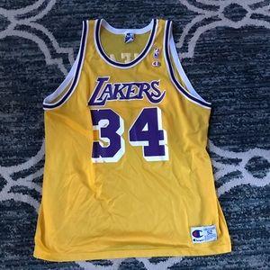 Vintage Champion Los Angeles Lakers Shaq Jersey 2x